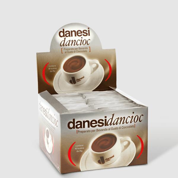 Picture of Danesi Dancioc Cocoa Chocolate Powder 40 single serving bags in a box