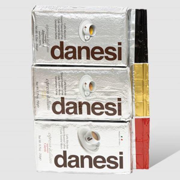 Billede af 3 måneders gavekort - Danesi Prøvepakke italiensk formalet kaffe 3x250g